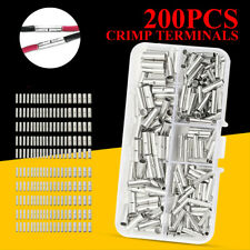 200x Butt Splice Connectors Terminl Cble Wire Crimp Solder 10-22 AWG + Cse