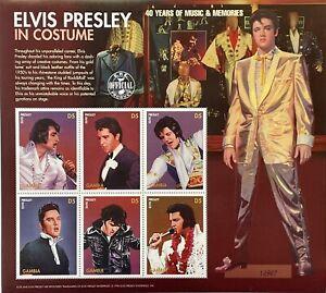 GAMBIA ELVIS PRESLEY IN COSTUME STAMPS 1996 MNH 40 YEARS OF MUSIC & MEMORIES