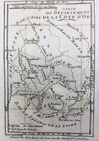 Côte d'Or en 1791 Saulieu Arnay le Duc Beaune Semur en Auxois Montbard Chatillon
