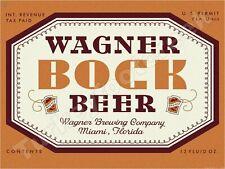 "WAGNER BOCK BEER LABEL 9"" x 12"" METAL SIGN"