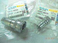 KUBOTA Loader #4 Hydraulic Quick Couplings K2581-66220 + 7J612-66323 (1 set)
