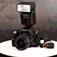 +Sony Alpha A290 DSLR Camera Bundle w/18-55mm Lens and Minolta 3600 HS-D Flash