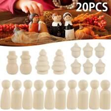 20PZ/set bambole piolo Legno persone nidificazione giocattolo DIY  bambini