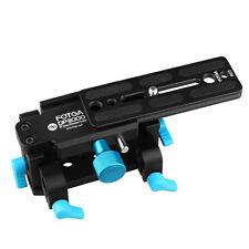 FOTGA Camera 15mm Rods Support Quick Release Base Plate w/ Tripod Mount for DSLR