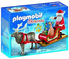 New! PLAYMOBIL 5590 Santa's Sleigh with Reindeer Set Ages 4-10