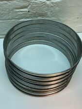 6 x Bourgeat Matfer Plain Cake Mousse Flan Rings 24cm Stainless Steel