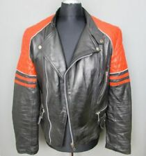 Black Leather Motorcycle Jackets For Sale Ebay