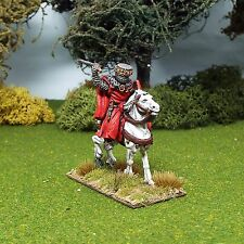 28mm Medievale latec 12th King, ONU BARDED Cavallo, Richard I, non verniciata, MEC03.
