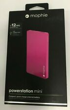 mophie Power Station Mini 12hrs Pink 3 000mah External Battery for Smartphone