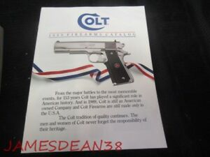 1989 COLT FIREARMS CATALOG - PAGES: 16 SALES BROCHURE