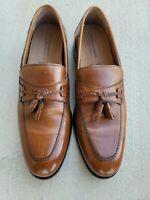 Johnston Murphy Loafers Mens 12 Signature Series Leather Dress Shoe Tassel
