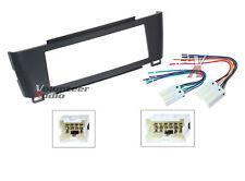Car Radio Stereo Cd Player Dash Install Mounting Kit Panel + Wiring Harness