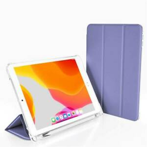 For iPad 5th 6th 7th 8th 9th Gen Smart Leather Stand Case Cover w/ Pencil Holder