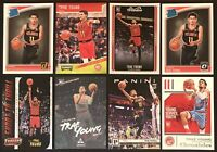 TRAE YOUNG 8-CARD ROOKIE LOT: 2018-19 Panini Chronicles, Threads & Donruss Optic
