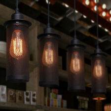 Industrial Retro Metal Mesh Ceiling Lamp Hanging Edison Pendant Light Fixture