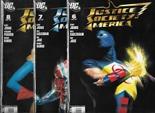 JUSTICE SOCIETY OF AMERICA 2007 LOT OF 3 - #6 #7 #8 (VF) JSA