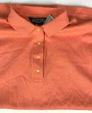 vtg NWT Lands End Relaxed Made in USA Polo Shirt sz XL Melon