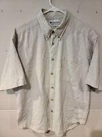 Columbia Mens Size M Short Sleeve Button Up Casual Shirt Medium Fishing Shirt