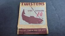 Line Sinkers Twistons Vintage Matchbook Style Fishing Weights Tackle