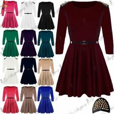 3/4 Sleeve Dresses for Women with Belt
