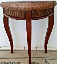 Mahogany/ Wicker Table
