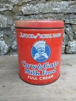 Collectable Vintage c1960's Cow & Gate Milk Food Tin - Full Cream