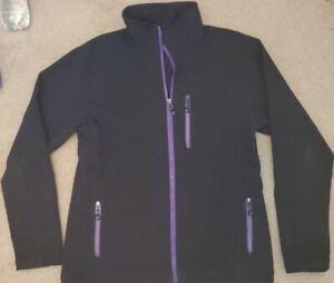 Polar Edge Women's Black and Purple Full Zip Jacket Size Medium