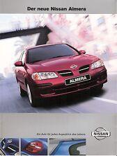 Prospekt / Brochure Nissan Almera 02/2000