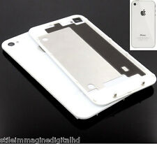 VETRO POSTERIORE REAR GLASS COVER PER IPHONE 4S bianco RICAMBIO