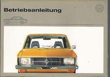 VW k70 manual de instrucciones 1971 manual de instrucciones manual bordo libro ba