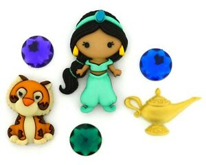 Disney Jasmine Buttons Jesse James Dress It Up Embellishment Collection