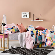 ADAIRS KIDS DARCEE GEOMETRIC REVERSIBLE DOUBLE bed QUILT DOONA DUVET COVER SET