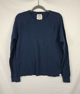 Lucky Brand Lived In Thermal Men's Navy Blue Long Sleeve Shirt sz L