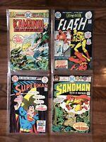 Set Of Four DC Comics: Sandman #4, Kamandi #36, Flash #233, Superman #288