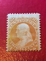 US SCOTT Cat # 71 Unused NG Stamp CV $1000 FRANKLIN Heavy Crease FREE Shipping