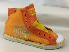 DC Skateboard Shoes Womens 9 M High Top Sneakers CHELSEA MID Orange Snake Yellow