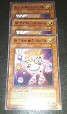 YuGiOh 3x BATTERYMAN MICRO-CELL 1st & unlimited mix LODT-EN032 FREE SHIPPING NM