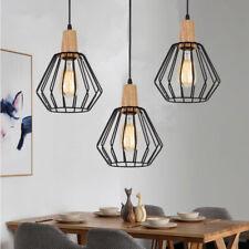 Wood Pendant Light Modern Ceiling Lights Black Lamp Kitchen Chandelier Lighting No 3pcs