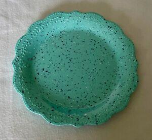 """The Pioneer Woman Juliette Speckled Teal 10.7"""" Diameter Melamine Dinner Plates"""