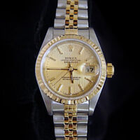 Rolex Datejust Ladies 18K Yellow Gold & Steel Watch Jubilee Band Champagne 79173