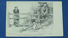 Vintage Gibson Girl Comic Postcard 1906 Golf Clubs GOLF NOT ONLY GAME ON EARTH