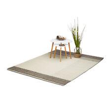 Teppich modern Wohnzimmerteppich Wolle 160 x 230 cm Handwebteppich Wollteppich