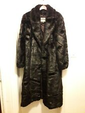 Mark Reed Dressy Faux Fur  Womens Coat Size LM Made In China color Ranch, trench