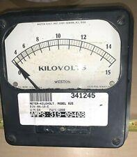 Vintage Weston Model 925 1059 Kilovolts 6 Metal Case Substation Panel Meter