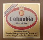 VINTAGE CANADIAN BEER LABEL - COLUMBIA BREWERY, COLUMBIA BEER 341ML
