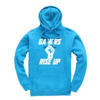 Gamers Rise Up Gaming Kids Hoodie Hooded Sweatshirt Ages 3-13
