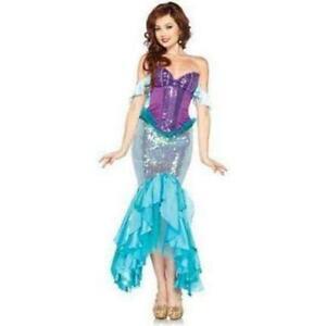 Disney Adult Deluxe Princess Ariel Costume, Little Mermaid Leg Avenue, Small