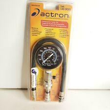 Engine Cylinder Actron 1J60 Compression Tester 4 Piece Kit