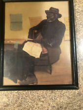 Antique African American Print old man
