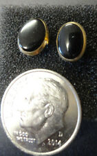 Black Onyx and 14k gold stud earrings, not scrap, .785g